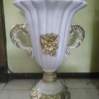 PENGRAJIN Vas Bunga/Pot Fiber DEKORASI Pernikahan MURAH Depok