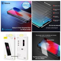 Baseus iPhone Xs Max 0.15mm Tempered Glass Case Friendly Clear HD
