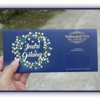 jual undangan pernikahan model amplop dengan ornamen bunga jakarta selatan undangan nikah muslim tokopedia idr