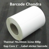 """70x30mm 1line 400pcs Gap core1,5"""",direct thermal,label sticker barcode"""