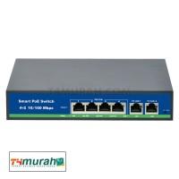 Smart Poe Switch Port 4+2 Support IEEE802.3 AF/AT 48V 100Mbps 250M