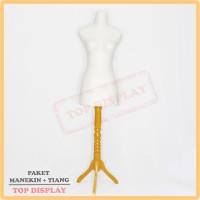 manekin dm buthek + kaki kayu | | manekin wanita set |manekin setengah