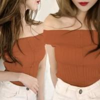 Harga baju gaun dress wanita cewe baju atasan rajut sabrina bl3339 brick | Pembandingharga.com