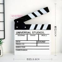 Papan Action Clapper Board Sutradara Take Film Hitam Putih Studio