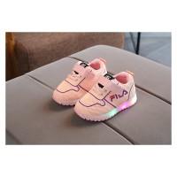 Sepatu Fila Warna Peach Sepatu LED Anak Perempuan Sepatu Kets Anak