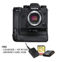 Harga fujifilm x h1 mirrorless digital camera body with battery grip | Pembandingharga.com