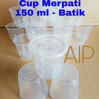 Cup puding 150 ml 25 pcs Cup merpati Cup Jelly Ice Cream Rujak Slime