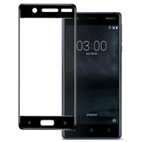 Tempered glass full cover layar nokia 3 warna hitam