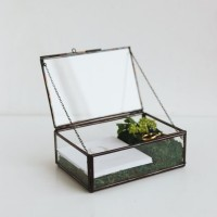 MakeUp Organizer Jewelry Box Terrarium Glass SOMA BLACK rumah tan