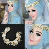 Headpiece Hairpiece Aksesoris Hiasan Rambut Pesta Flower Crown Mahkota