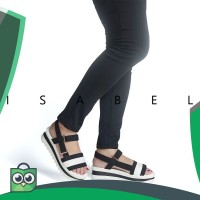 Isabel MIKO Sepatu Sandal Sendal Tali Wanita Black Hitam ebaed18790