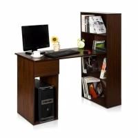 Meja Komputer Meja Kerja Meja Belajar dengan Rak Buku EX3225 Expresso