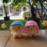 Boneka Rajut Little Twin Star