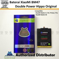 Baterai Hippo Double Power XiaoMi BM47 Redmi 3 3S Pro Prime 4X Batre