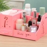 DS011 Decorative Storage Cosmetic / Rak vintage Kosmetik DOMESTIC - Merah Muda