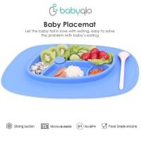 Piring Training Belajar Makan Mandiri - Baby Placemat OVAL BabyQlo