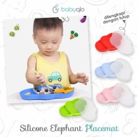 Piring Training Belajar Makan Mandiri Baby Placemat Elephant BabyQlo
