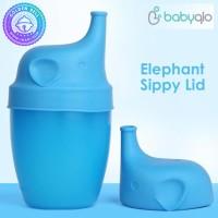 Sipply Lid Silicone Elephant Babyqlo - BPA Free - Aman Lembut Nyaman