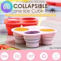 Tray Cetakan Silikon - Collapsible Silicone Ice Cube Tray BabyQlo