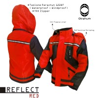 Jaket Parasut Outdoor Windbreaker-Safety ( Lapangan, Tambang, Gunung )