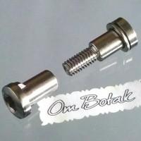 Seat Pin (Baut batangan L) Chrome . Diameter 8mm. Sepeda Fixie/Balap