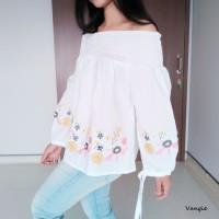 Harga baju gaun dress wanita cewe atasan sabrina bordir bl3266 kerja | Pembandingharga.com