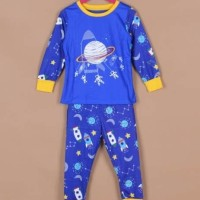 Harga piyama baju tidur anak laki cowok gw 282 roket astronot biru | Pembandingharga.com