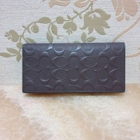 dompet Coach Men Flap Wallet Debossed Mahogany brown leather original 7fcec8ac53
