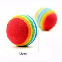 Rainbow Ball - Mainan Bola Kucing Kitten Dog Toys Bola Anjing Puppy