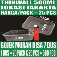 Thinwall 500ml food container box tempat kotak makanan plastik murah