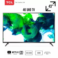 TCL 43 inch Smart LED 4K UHD TV with Dolby Sound - 43E3