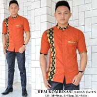 Harga kemeja batik pria kombinasi model | antitipu.com