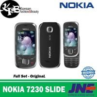 PREMIUM Hp murah jadul Nokia 7230 Slide - Original - Garansi - Hitam
