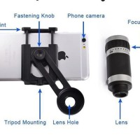 Terbaru New Telezoom Tele Zoom Lensa 8X Hp Telescope Iphone Xiaomi