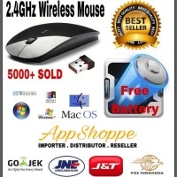 Terbaru New Wireless Mouse Apple 2.4Ghz For Macbook Laptop Notebook