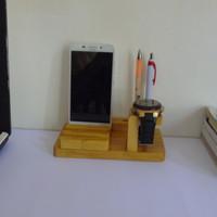 kerajinan kayu Dudukan HP di Meja Kerja / Kamar Bahan Kayu Original P