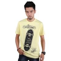 Baju Kaos Tshirt Skateboard Pria Cowok Cowo Warna Kuning PS 178 CZ