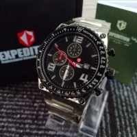 JAM TANGAN EXPEDITION 6305 PRIA SILVER BLACK ORIGINAL