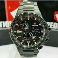 JAM TANGAN EXPEDITION 6747 PRIA FULL BLACK SPORTY SOLID STELL ORIGINAL
