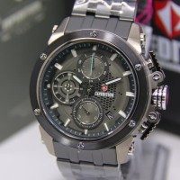 JAM TANGAN EXPEDITION 6748 PRIA FULL BLACK DJARUM BIRU ORIGINAL