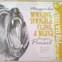 Buku Menggambar Beruang, Serigala, Elang & Buaya dengan Pensil