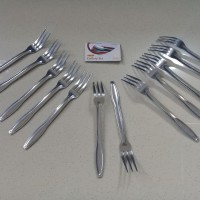 Garpu Kecil Stainless Steel Cutlery 12pcs Golden Fliying Fish GK0102