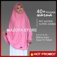 Dijual Jilbab Instan Pet Antem Size SUPER JUMBO / Hijab Kaos B Diskon