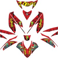 stiker striping decal motor mio gt zombie Grade B