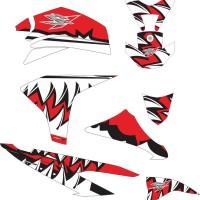 stiker striping decal motor CS1 shark Grade S
