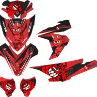 stiker striping decal motor vario esp 125-150 red devil Grade B
