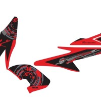 stiker striping decal motor aerox 155 hi-tech Grade S