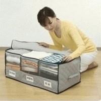 Supplier Cloth Organizer 1 warna abu2 Fiber Bambo asli