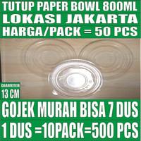 Tutup paper bowl 800ml hanya lid mangkok kertas 800 ml Gojek Jakarta