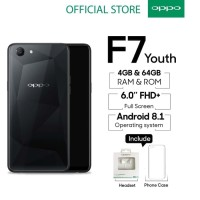 Jual OPPO F7 Youth 4GB/64GB -AI Beauty Technology 2.0 Black Murah